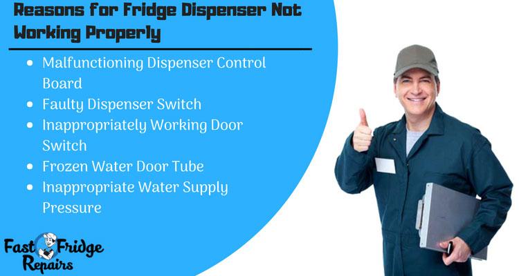 reasons for fridge dispenser not working