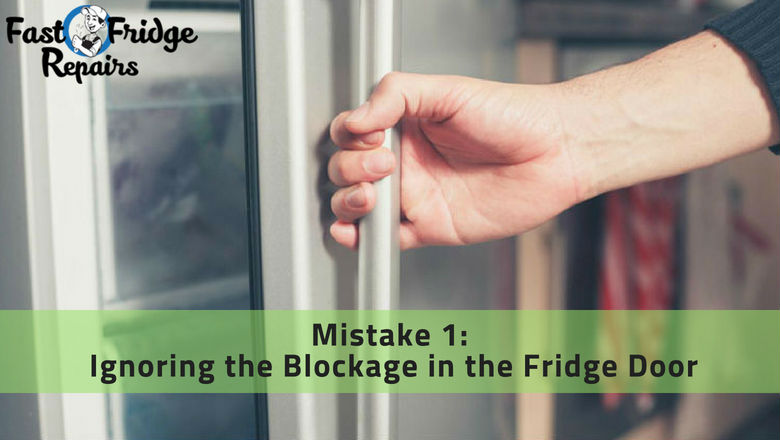 blockage in fridge door