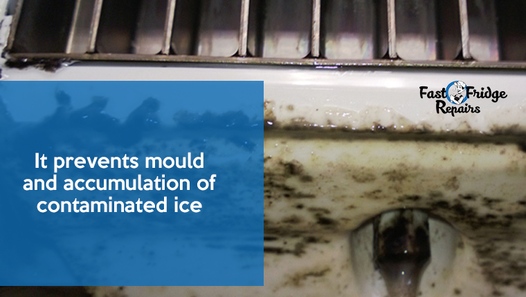 accumulation of contaminated ice